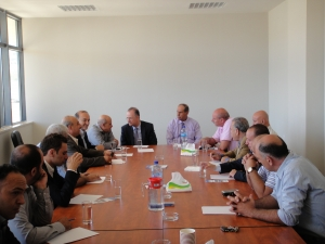 A delegation from the Palestinian Investment Fund (PIF) headed by Dr. Mohammad Mustafa; Chairman of PIF