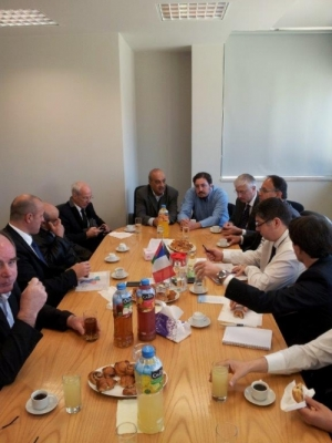 A high-level French economic delegation visits to the Bethlehem Industrial Estate